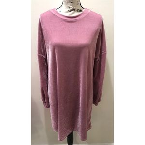 Primark Velvet Sweatshirt Dress Size 8